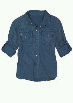 Basic solid chambray shirt- delias