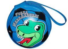 TIF8 PORTA CD NERO/AZZURRI  Porta cd in similpelle a forma rotonda nei colori nero azzurro con serpentello Forza Neroazzurri