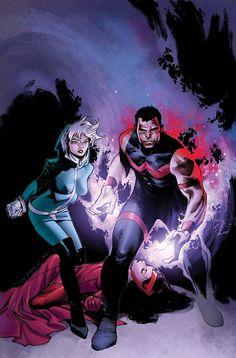 Rogue, Wonder Man & Scarlet Witch by Olivier Coipel #XMen #Avengers #Mutants