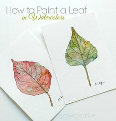 How to Paint a Leaf in Watercolors