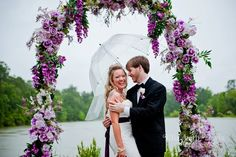 top model floral wedding arch beautiful!!