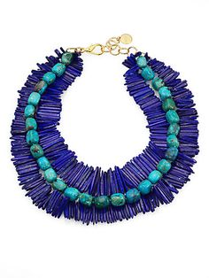Lapis & Chrysacolla Necklace by Nest - available at saksfifthavenue.com