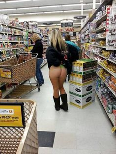 At Walmart, pants are optional.