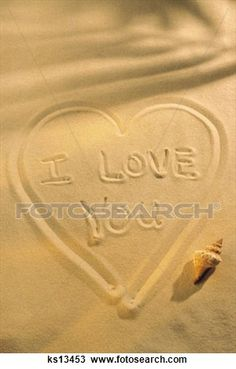 """""""Valentines Day, Beach, Celebration, Concepts, Heart, Holiday"""" - Valentine's Day stock photos available at Fotosearch.com"""