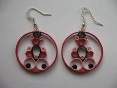 handmade quilled earrings by Kamila Koucká for sale