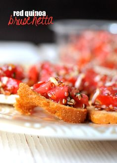 A Perfect Use for Excess Tomatoes: Quinoa Bruschetta