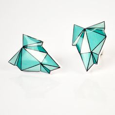 Emerald Green Geode Post Earrings - Hypoallergenic Surgical Stainless Steel Posts- Christmas In July - CIJ