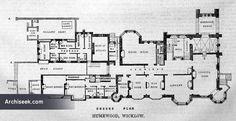1870 – Humewood Castle, Kiltegan, Co. Wicklow Architect: William White. Ground Floor