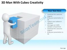 3D Man with Cubes Creativity Ppt Graphics Icons #Powerpoint #Templates #Infographics