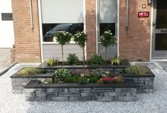 Stone Walling Naturel Grijs/Zwart 18 x 42 x 8 cm per Landscaping With Rocks, Front Yard Landscaping, Lawn And Garden, Garden Paths, Rock Garden Design, Raised Flower Beds, Outdoor Patio Designs, Stone Planters, Design Jardin