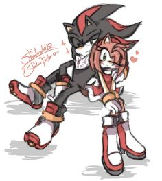Search 'Shadamy' on DeviantArt - Discover The Largest Online Art Gallery and Community Shadow The Hedgehog, Sonic The Hedgehog, Shadow And Amy, Rouge The Bat, Legends And Myths, Sonic Fan Art, Miraclous Ladybug, Short Comics, Cartoon Games