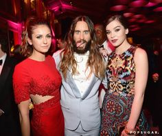 Pin for Later: The 20 Most Fun-Filled Photos From Vanity Fair's Oscars Afterparty Nina Dobrev, Jared Leto, and Hailee Steinfeld