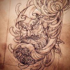Daruma.  #tattoo #art #tattooart #tattooartist #tattooworkers #tattooartistmag #newschooltattoo #japanesetattoo #daruma #darumatattoo #sketch