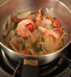 Tom Yum Soup - Thai Home Cooking Classes at A lot of Thai