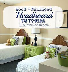DIY Wood and Nailhead Headboard Tutorial