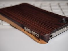 【Violetwood】Wooden case for iPhone4S/4.Made by MatsubaFactory.