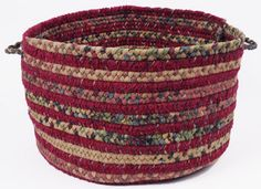 I like this idea of a braided rug utility basket from http://www.braided-rug.co.uk