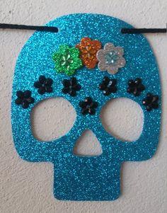 Mexican Sugar skull banner Day of the dead banner Dia dedia de muertos Diy Halloween Door Decorations, Halloween Party Decor, Halloween Crafts, Mexican Halloween, Spooky Halloween, Happy Halloween, Sugar Skull Crafts, Day Of The Dead Party, Homemade Paint