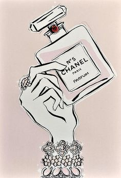 Chanel No.5 ~ Would love a large, color print of this to frame & hang on a closet or bedroom wall. ~KT