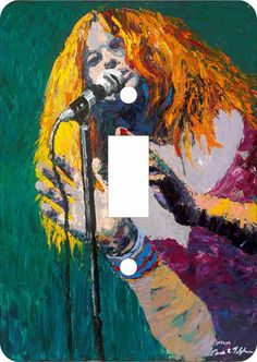 Janis Joplin Light Switch Covers
