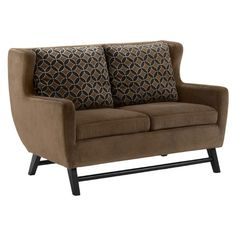 I pinned this Armen Living Midtown Loveseat in Rich Brown from the Country Girl, Big City event at Joss and Main!