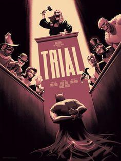 Erick Radomski's poster for Mondo featuring an episode of Batman: The Animated Series