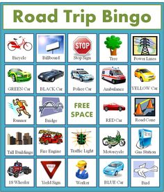 FREE Road Trip Bingo Game for Kids - Homemaking Expert
