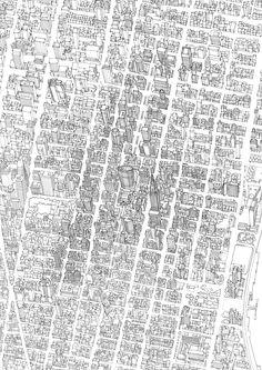 Abi Daker's Illustration Portfolio - Maps - Cityscapes - Line Drawing