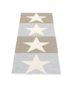 pappelina Viggo Outdoor-Teppich schlammfarben / hellgrau / vanille