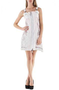 White zip dress by C' Fait Pour Vous via geckoboutique. Click on the image to see more!