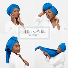 Imagine a hair towel specially designed to gently and smoothly dry your hair. Reducing breakage, tangling and lint. SHETOWEL is here to upgrade your hair regimen. With a simple twist, you can wrap your hair up in different styles. This is a touch of elegance and comfort, that every woman deserves.