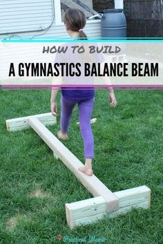 How to build balance beam with step by step instructions. Great equipment for both gymnastics practice as well as outdoor fun for the summer.