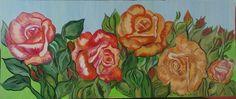 """""""Roses"""" Olio su tela  50x80"""