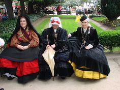 Spanish traditional dress from Galicia