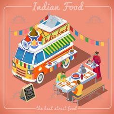 Food Truck 02 Vehicle Isometric