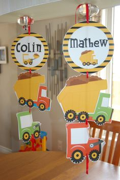 Construction Party Decorations - customized for your party. $8.00, via Etsy.