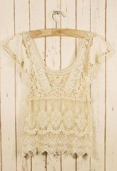 Retro Crochet Top  #Chicwish    #Chicwish