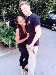 """""""My husband and I just got married this past July 7, 2014 and I'm African American and he's Caucasian!"""" #love #wmbw #bwwm"""