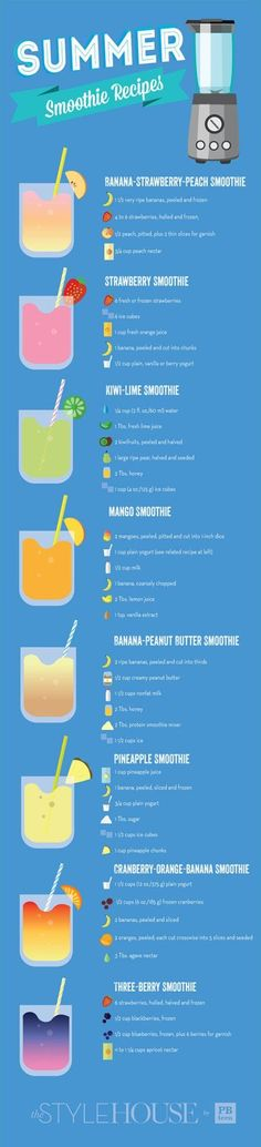 Diet Fast - 2 Week Diet - 8 Summer Smoothies - Recipes - SavingsMania: A Foolproof, Science-Based System that's Guaranteed to Melt Away All Your Unwanted Stubborn Body Fat in Just 14 Days.No Matter How Hard You've Tried Before! Juice Smoothie, Smoothie Drinks, Healthy Smoothies, Healthy Drinks, Healthy Eating, Healthy Recipes, Diet Recipes, Healthy Treats, Fruit Smoothies