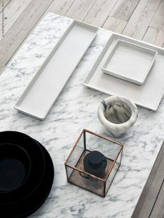 marble table DIY, IKEA