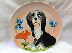 Bearded Collie 10 Dog Bowl for Food or Water Personalized at no Charge Signed by Artist Debby Carman * Visit the image link more details. (This is an affiliate link) Elevated Dog Bowls, Raised Dog Bowls, Stainless Steel Dog Bowls, Dog Water Bowls, Pet Cremation, Bearded Collie, Pet Urns, Dog Travel, Pet Bowls