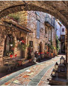 In pretty Umbria, Italy.