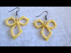 Needle Tatting Earrings - YouTube