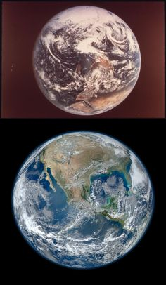 Earth - Then and Now Courtesy of NASA by usepagov