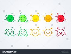 vector illustration user experience feedback concept different mood smiley emoticons emoji icon positive, neutral and negative. #Sponsored , #ad, #feedback#concept#mood#experience