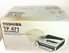 Toshiba Facsimile FAX Machine TF471 New in Box HTF Get it Fast! #faxmachine #toshibamachine #newtoshiba Find Picture, Cards Against Humanity, Canada Eh, Box, Etsy, Vintage, Check, Products