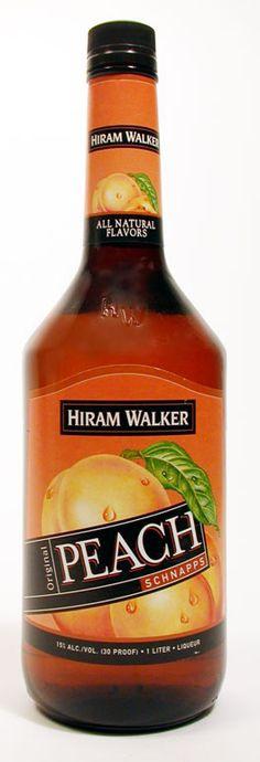 Hiram Walker Peach Schnapps 1 L Liquor List, Wine And Liquor, Cocktail Recipes Peach Schnapps, Triple Sec Cocktails, Coconut Cupcakes, Sparkling Wine, Simple Syrup, Natural Flavors, Schnapps