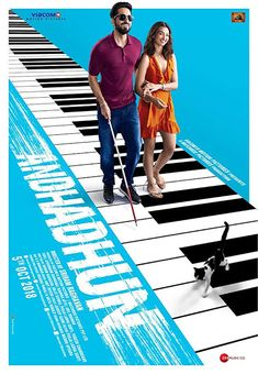 Directed by Sriram Raghavan. With Ayushmann Khurrana, Tabu, Radhika Apte, Anil Dhawan. A series of mysterious events change the life of a blind pianist, who must now report a crime that he should technically know nothing of. Hindi Movies, Movies 2019, New Movies, Movies Online, Famous Movies, Watch Movies, Disney Pixar, Ufc, Film Vf