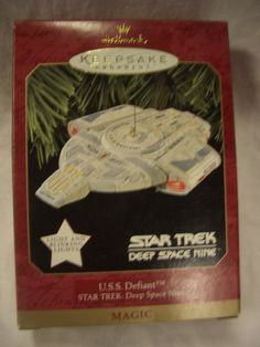 Hallmark Ornament U.S.S. Defiant Star Trek: Deep Space Nine ~ Dated 1997.  Retailed for $24, asking for $17.  Mint in box.