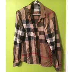 Mens Burberry Brit Checkered Button Down This was only worn on two occasions. Like new condition. Sz Med. i am open for offers so do not be shy ☺️ Burberry Tops Button Down Shirts